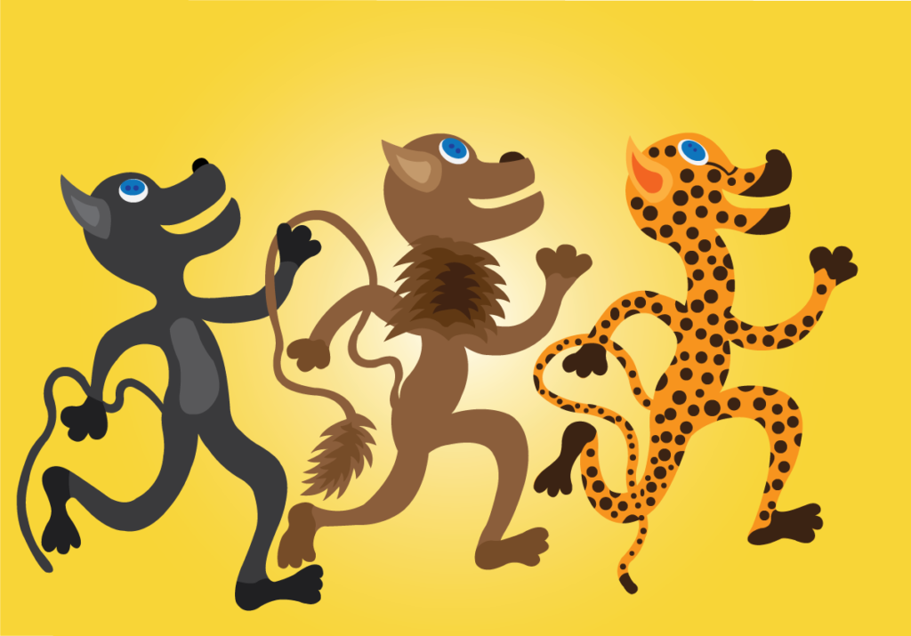 Vector Issue #6450: 100 meters Dash, the big cats competing with one another to determine who is the fastest