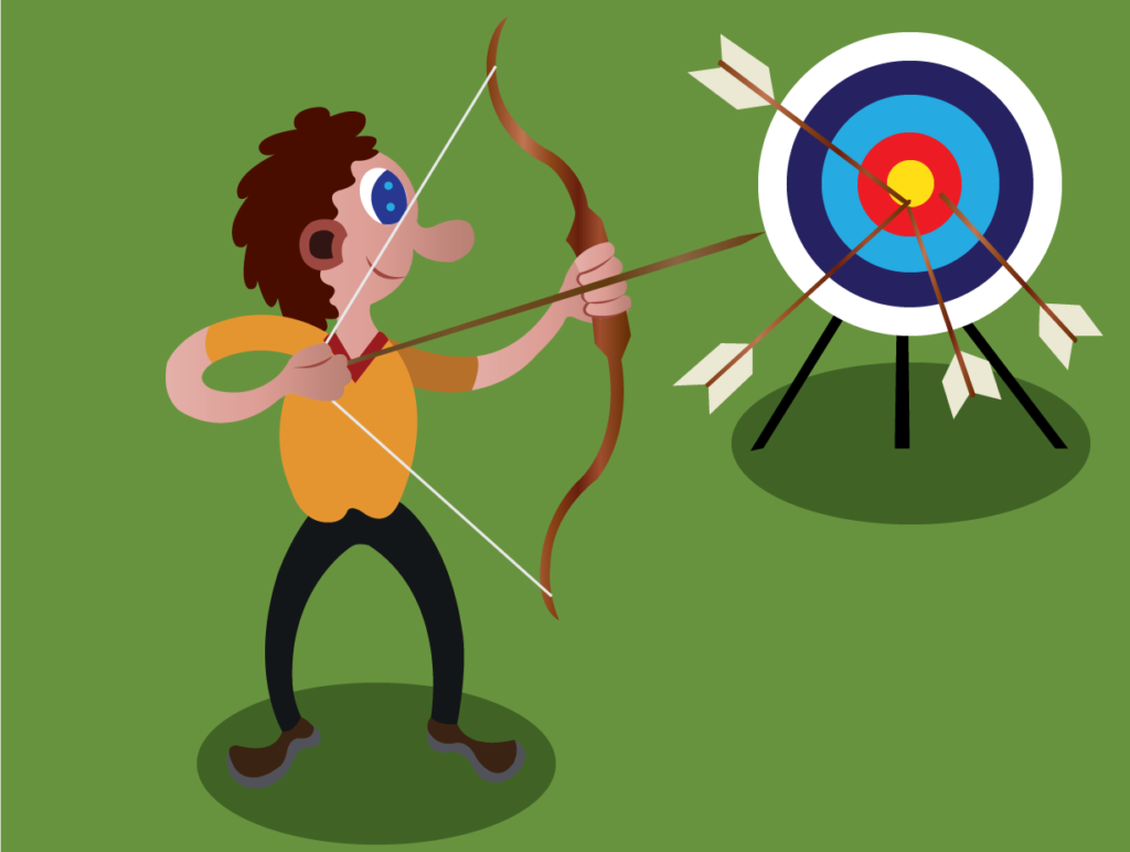 Vector Issue #6135: An archer Practicing some shooting techniques