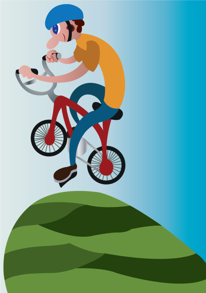 Vector Issue #6144: A BMX rider doing a mid air stunt