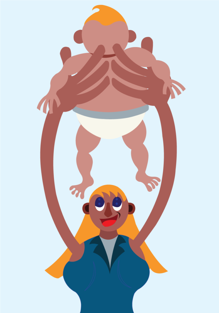 Vector Issue #6264: Baby Lifting hour, A Mother Plays with her baby