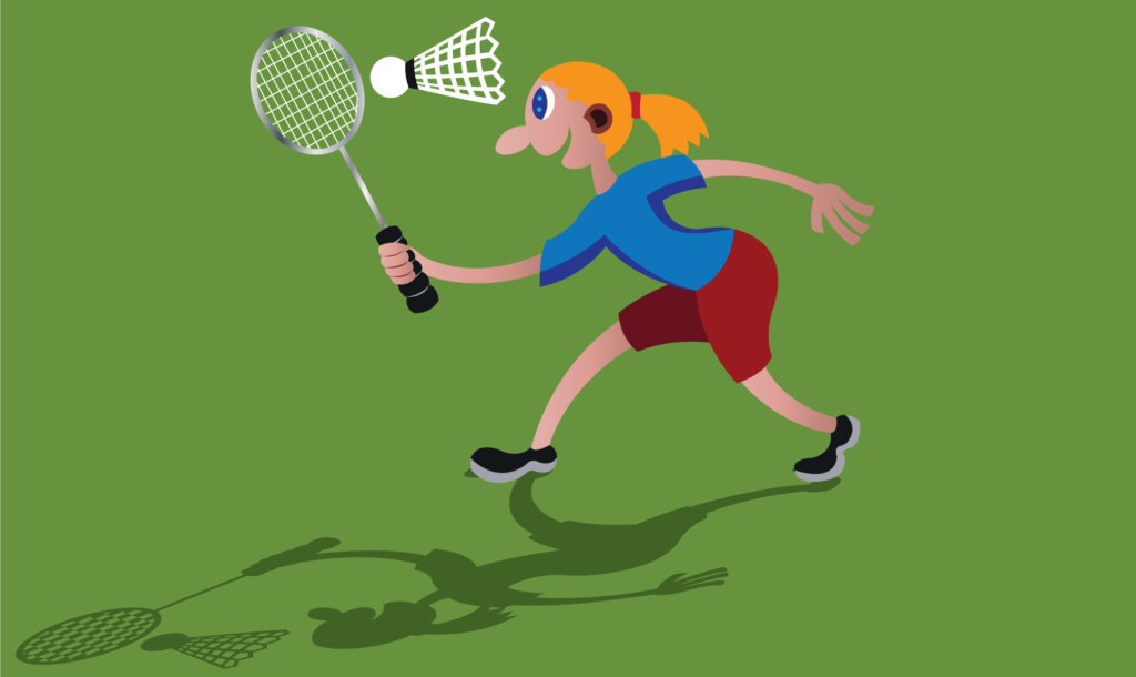 Vector Issue #6138: a Sportsperson playing badminton