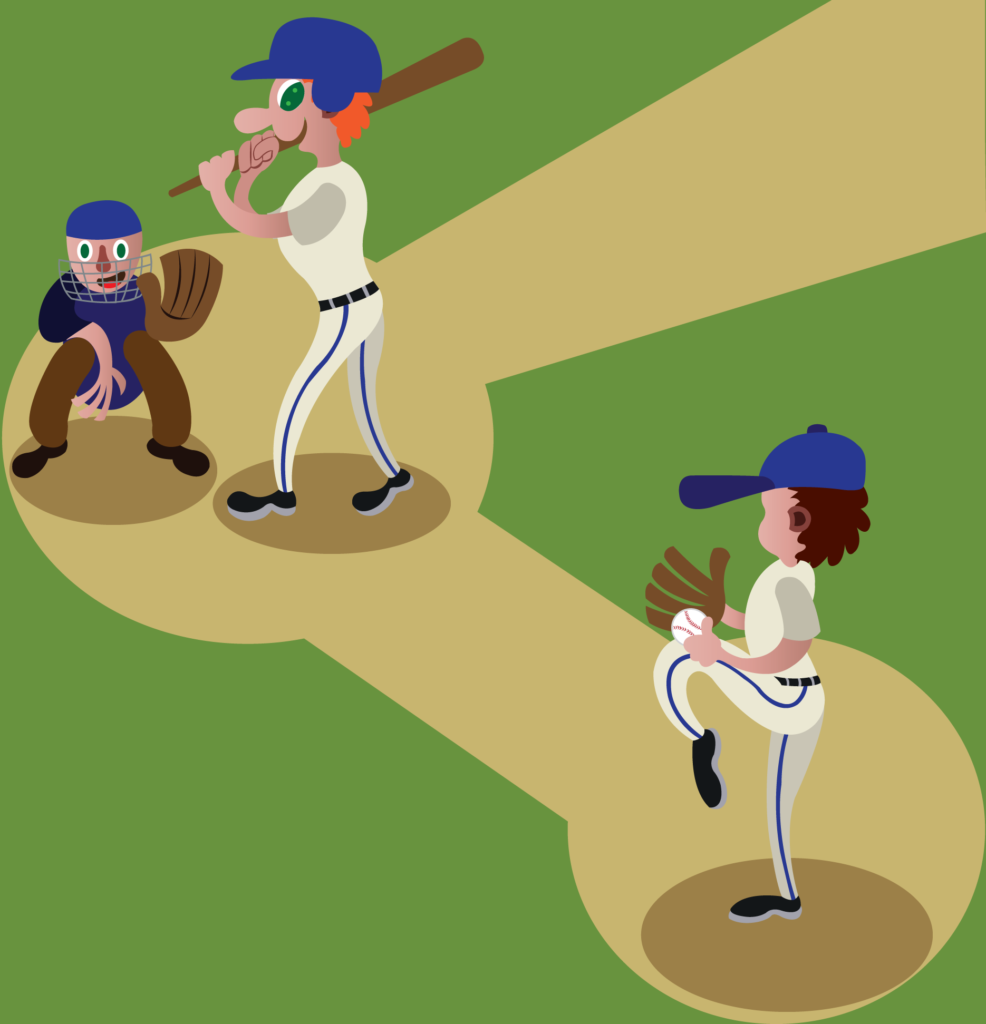 Vector Issue #6141: a baseball player ready to pitch