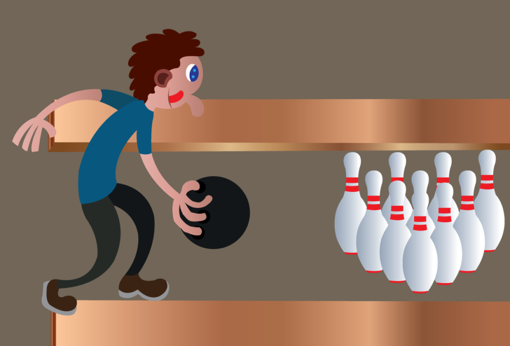 Vector Issue #6147: A bowler ready to throw a bowl,