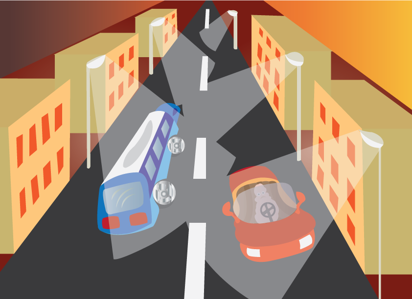 Vector Issue #6421: Vehicles crossing past one another on a very busy motorway