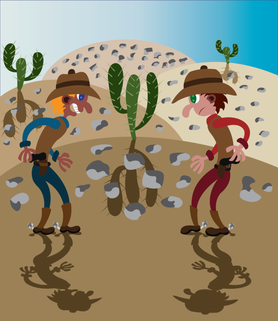 Vector Issue #6279: two cowboys ready to have a gunfight