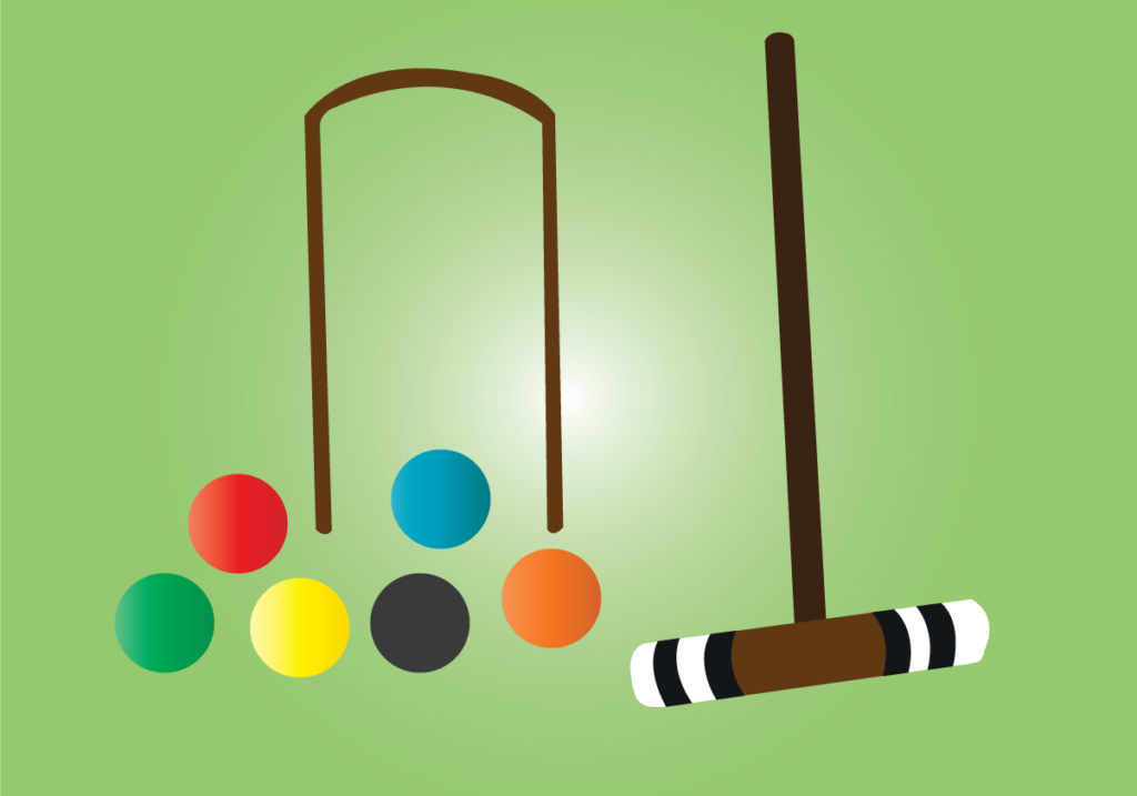 Vector Issue #6154: a samples of balls used in croquet game,