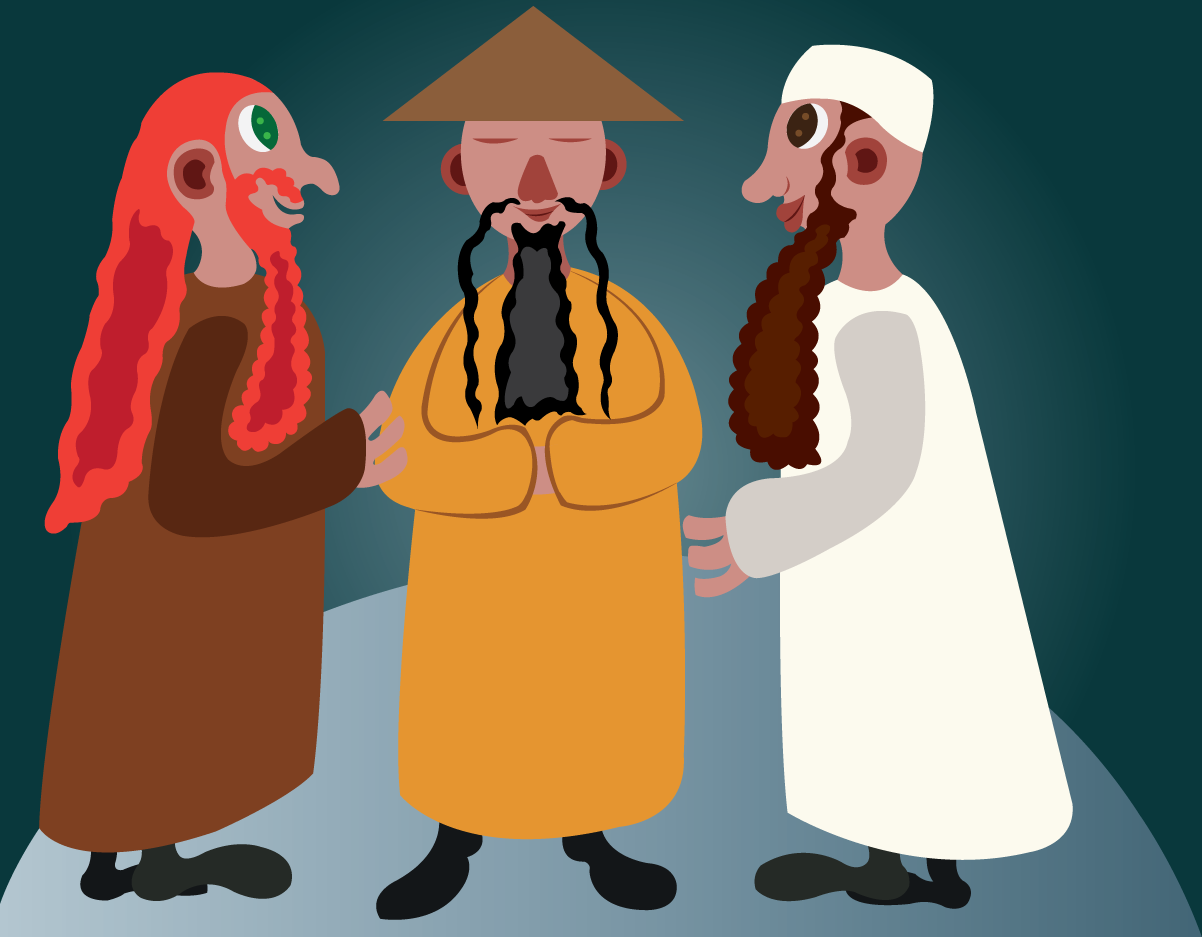 Vector Issue #6621: Cultures of the World 1-Three men from different continents meet to discuss