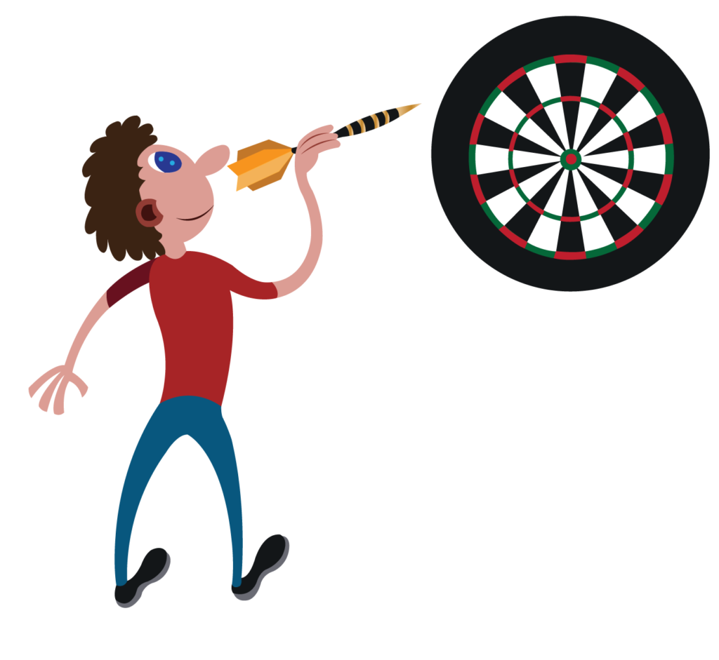 Vector Issue #6156: a player ready to throw a dart