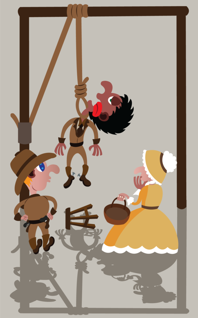 Vector Issue #6283: a condemned man being hanged