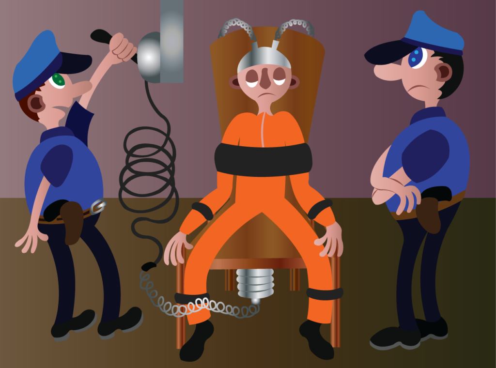 Vector Issue #6285: an inmate on death row being executed by electrocution