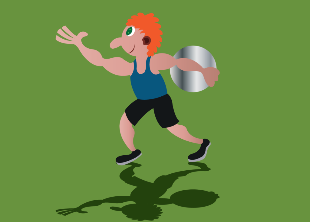 Vector Issue #6157: an athlete ready to throw a discus