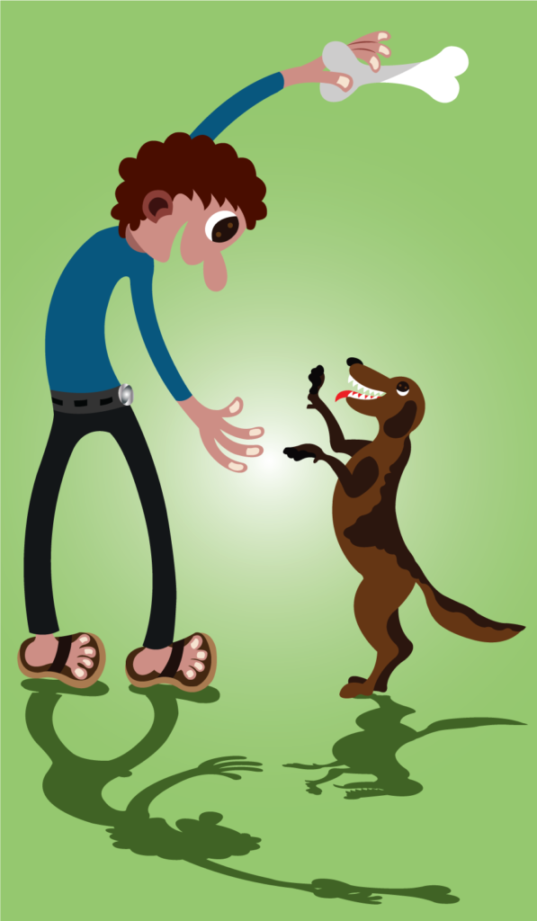 Vector Issue #6287: Dog Bone, A dog Owner playing with its Pet
