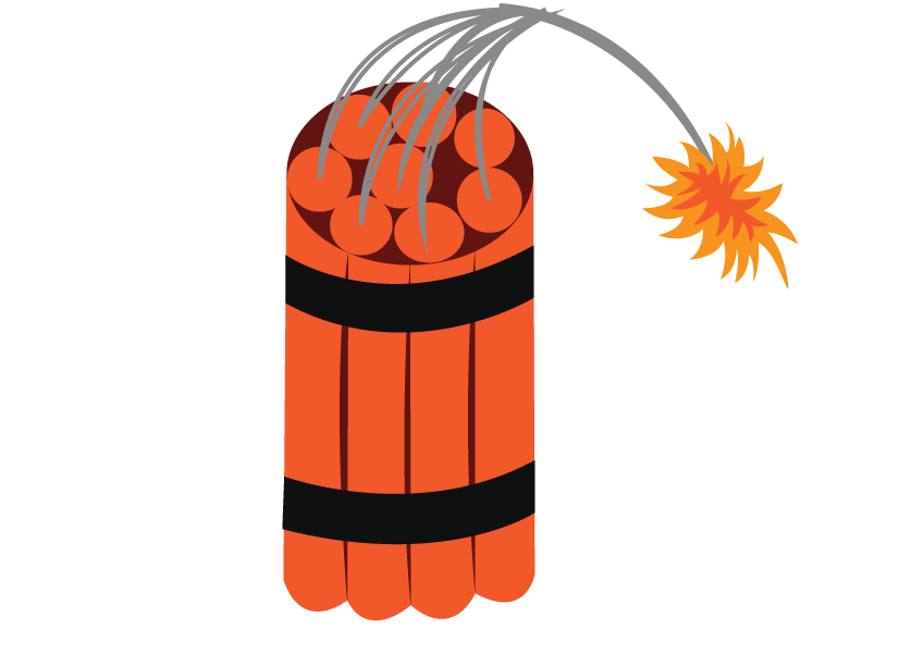 Vector Issue #6292: A lit dynamite ready to explode