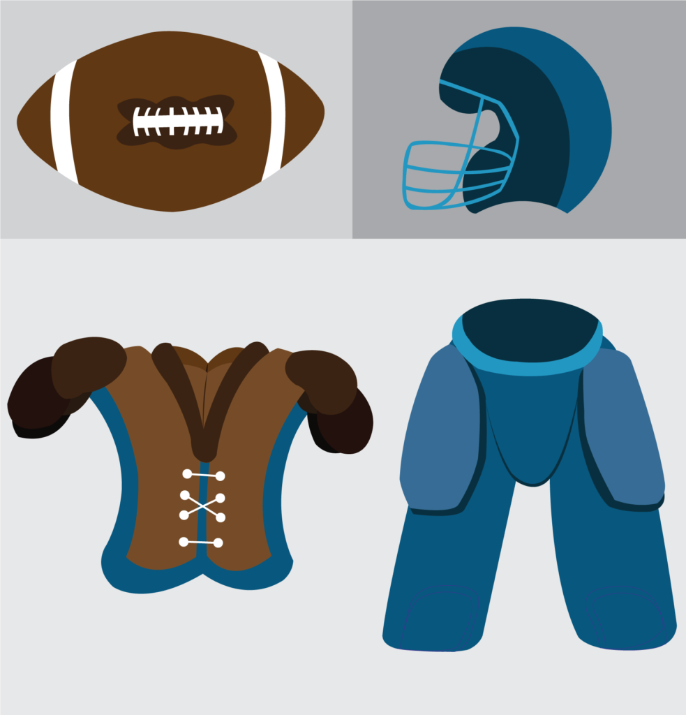Vector Issue #6162: a  sample of gadgets usually found with football players