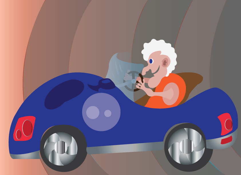 Vector Issue #6430: Granny's special Box, Granny in a vintage car