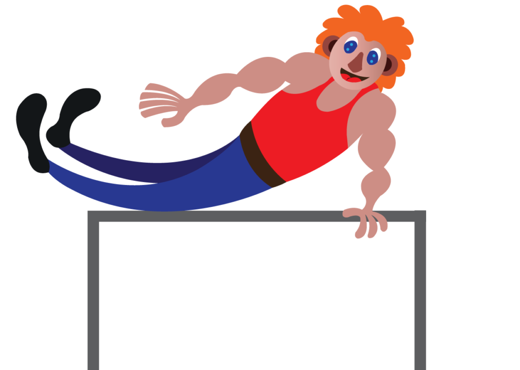 Vector Issue #6169: a gymnast doing some amazing moves,