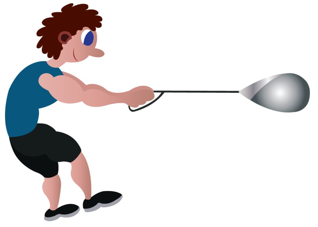 Vector Issue #6170: an athlete ready to throw an hammer