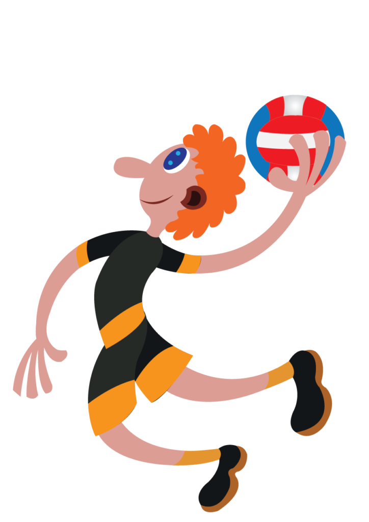 Vector Issue #6171: a handball player ready to make a score