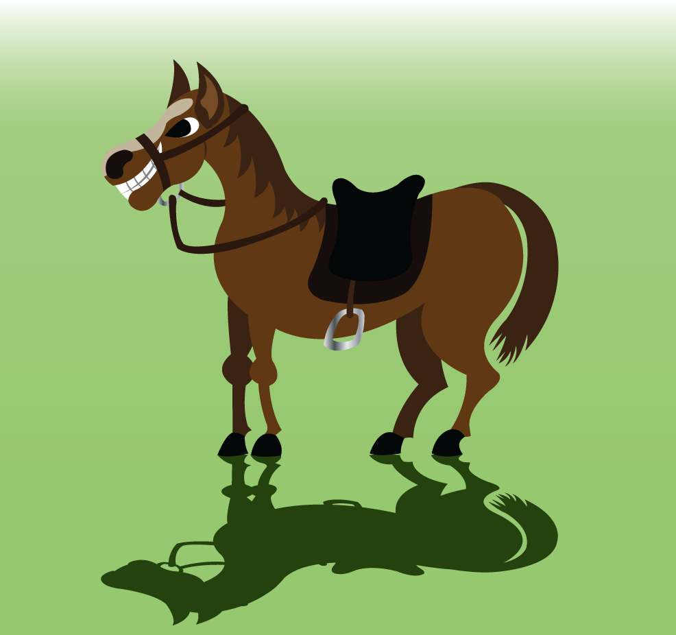 Vector Issue #6307: A horse eager to carry some luggage,