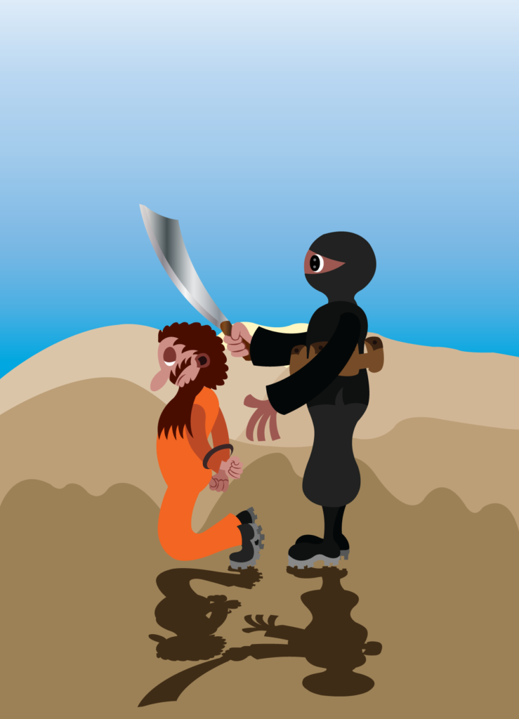 Vector Issue #6313: Jihadi Rule of Brutality, An Islamic Extremist executing a captured enemy fighter