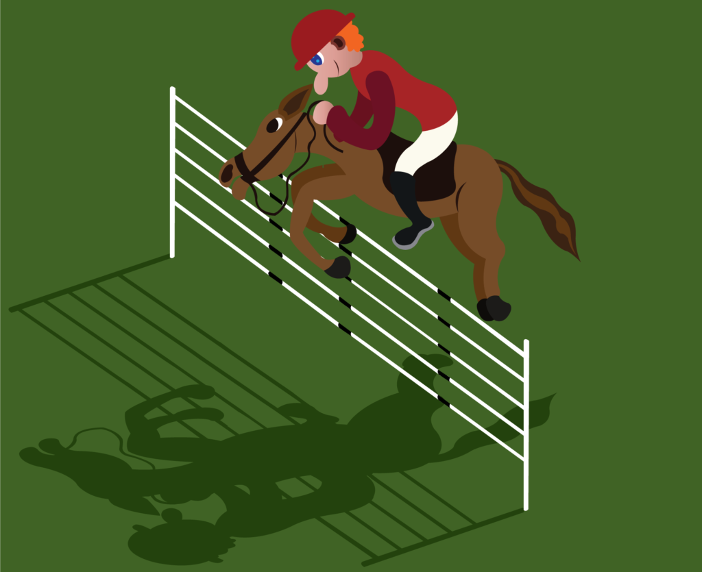 Vector Issue #6183: a jockey doing some showjumping