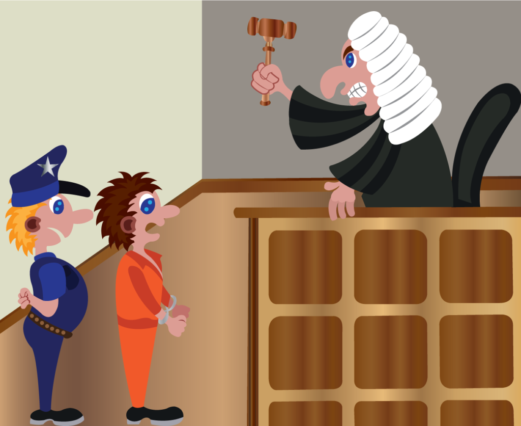 Vector Issue #6057: a judge delivering a sentence