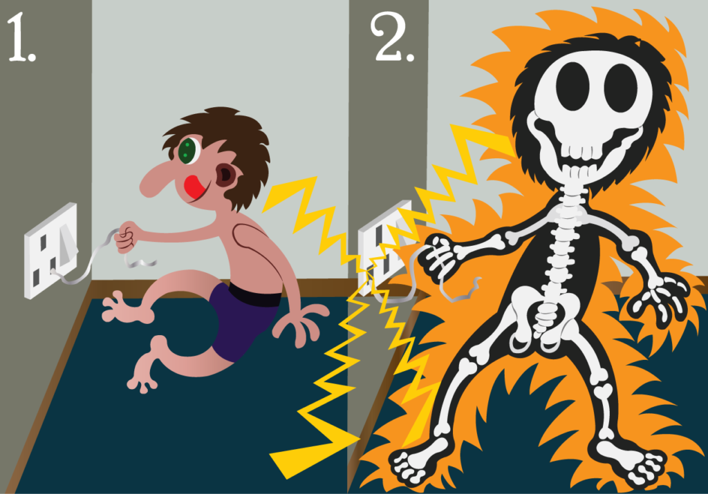 Vector Issue #6317: Lethal Shock, A kid plays with naked wires and gets electrocuted,