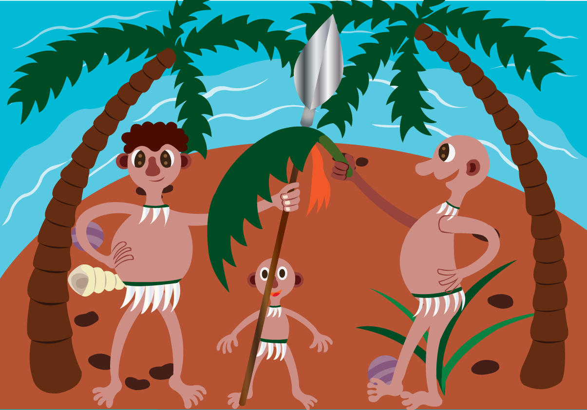 Vector Issue #6631:Luxury Islands 4-Natives of a cast away Island
