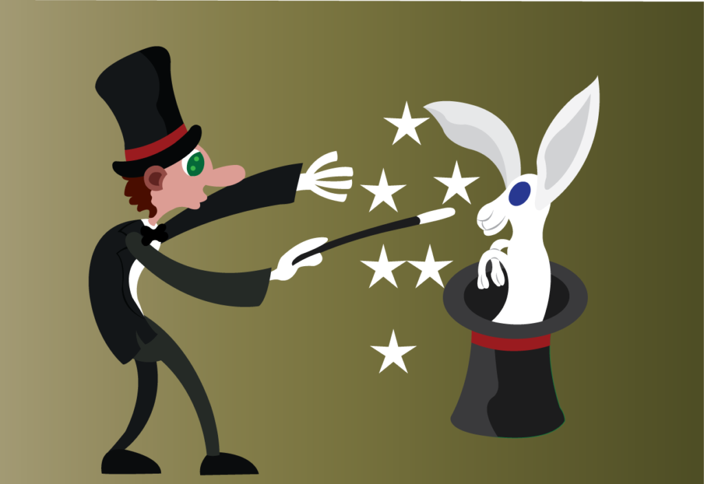 Vector Issue #6064: A magician performing a trick
