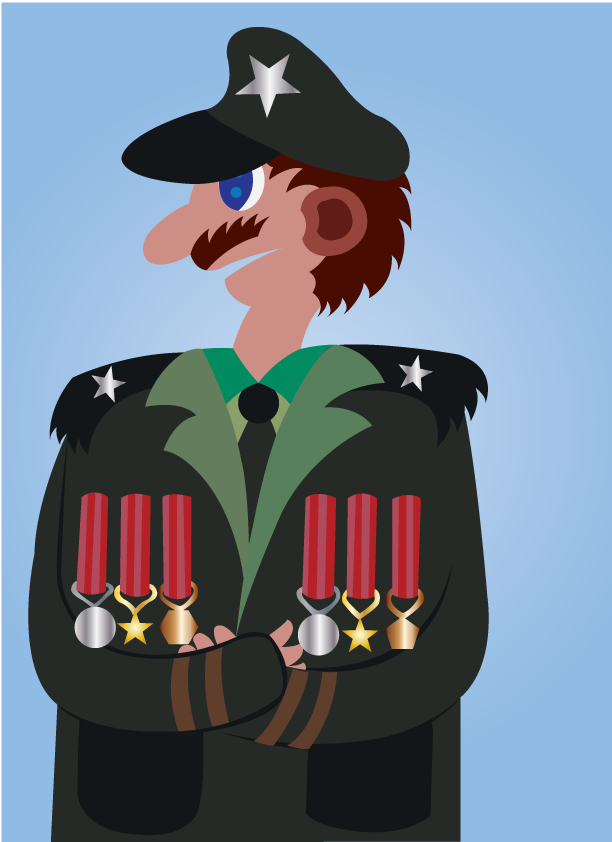 Vector Issue #6632: Medals of Honor- a retired military general shows off his medals
