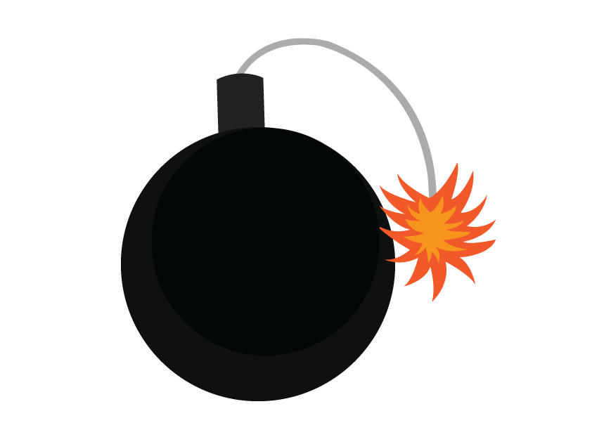 Vector Issue #6320: Mediaeval Explosives, A medieval bomb lit and ready to explode