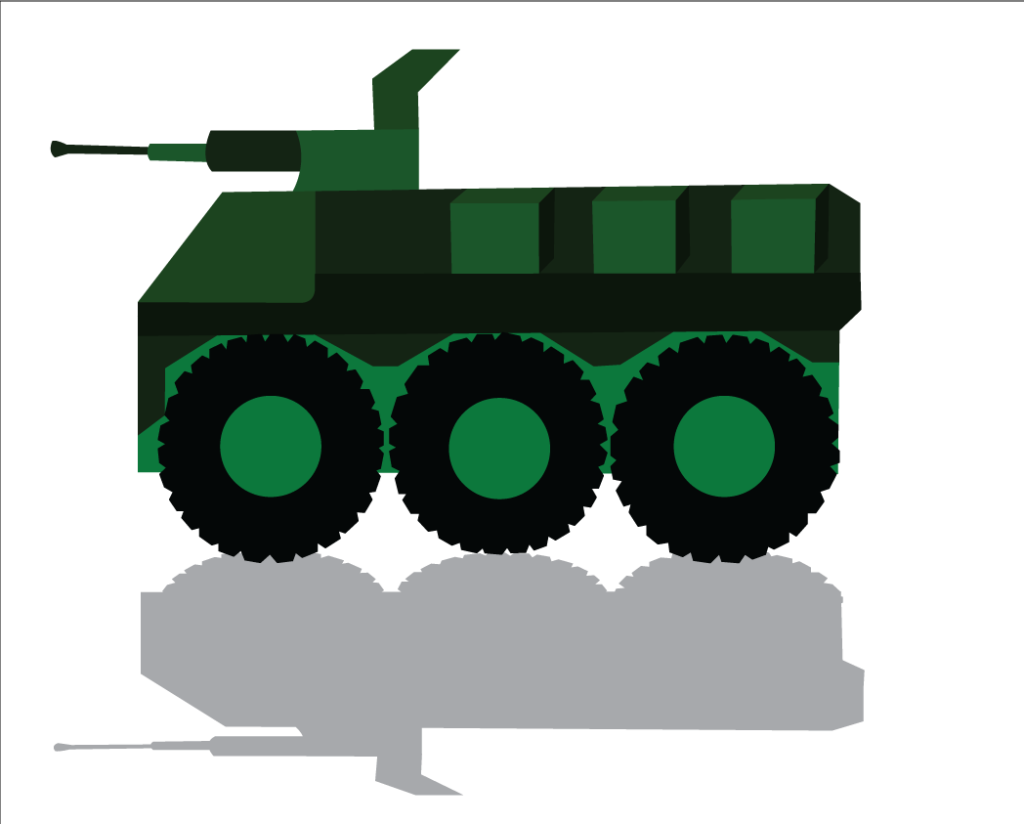 Vector Issue #6325: An armored Combat Vehicle ready for Battle