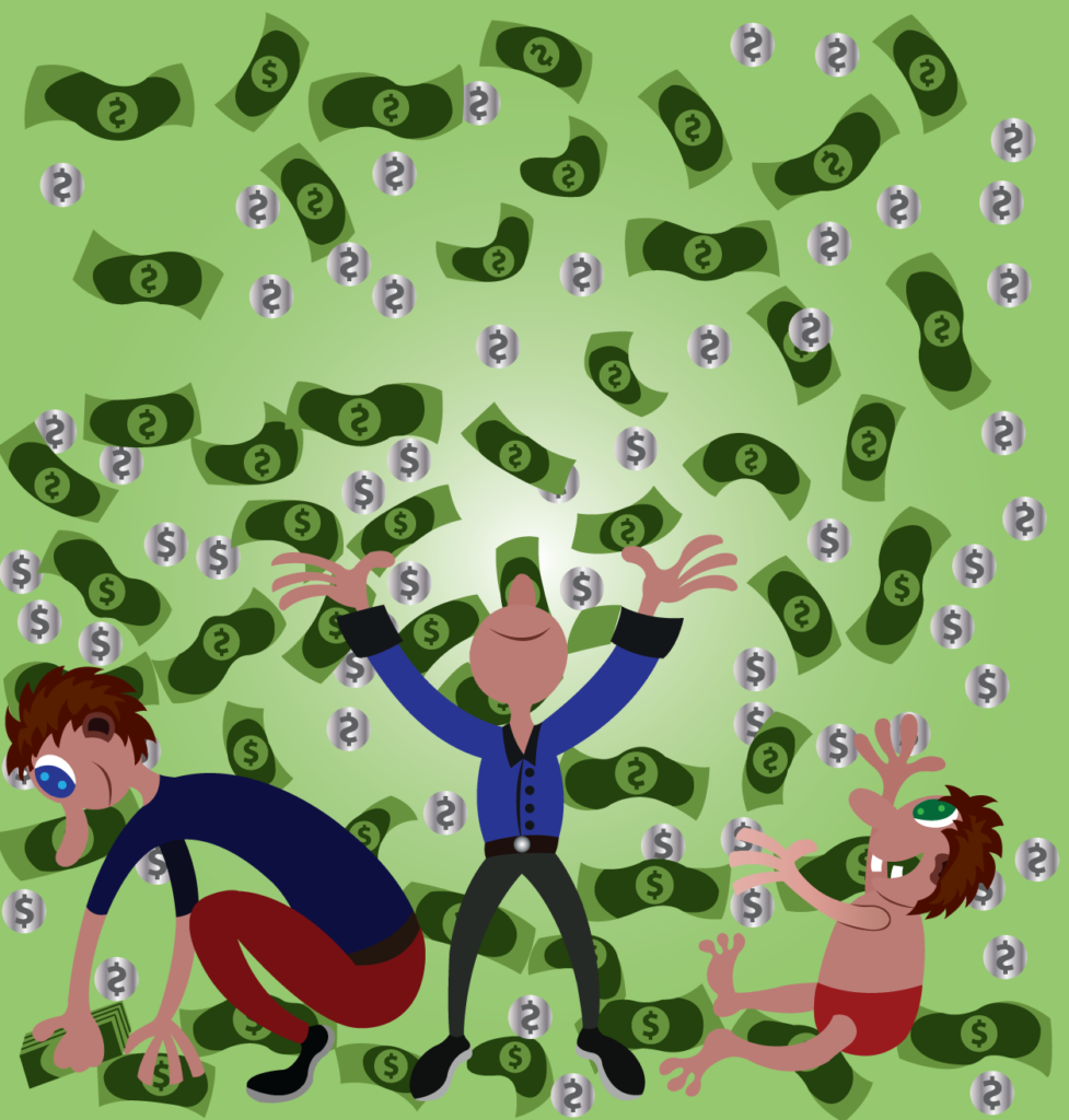 Vector Issue #6330: Money falling from the sky like rain