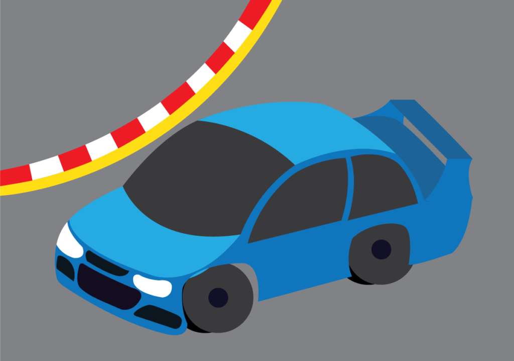 Vector Issue #6201: a motorsport racing car on a race track