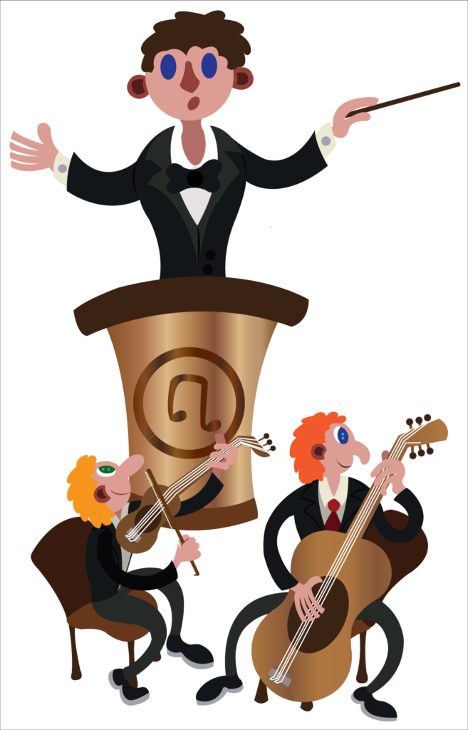 Vector Issue #6074: A music director leads an Orchestra