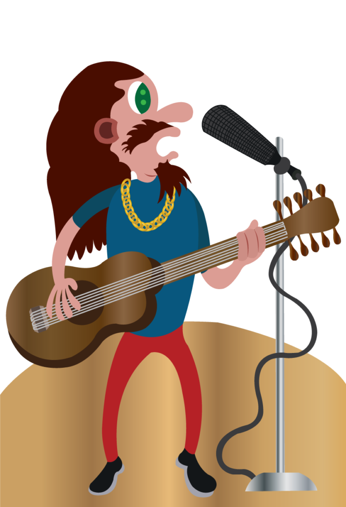 Vector Issue #6075: A musician performing live on stage
