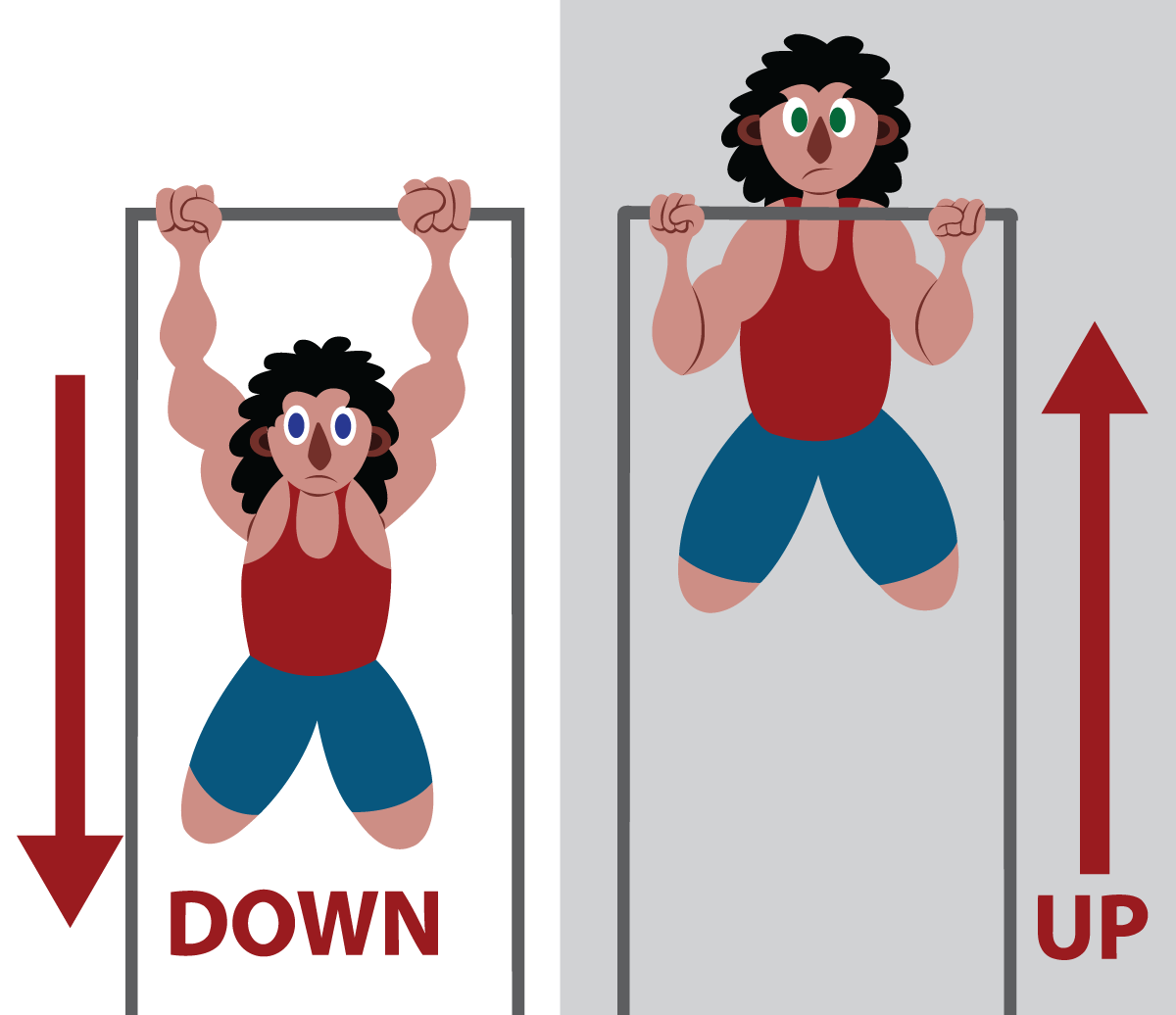 Vector Issue #6651: An athlete doing some Pull Ups