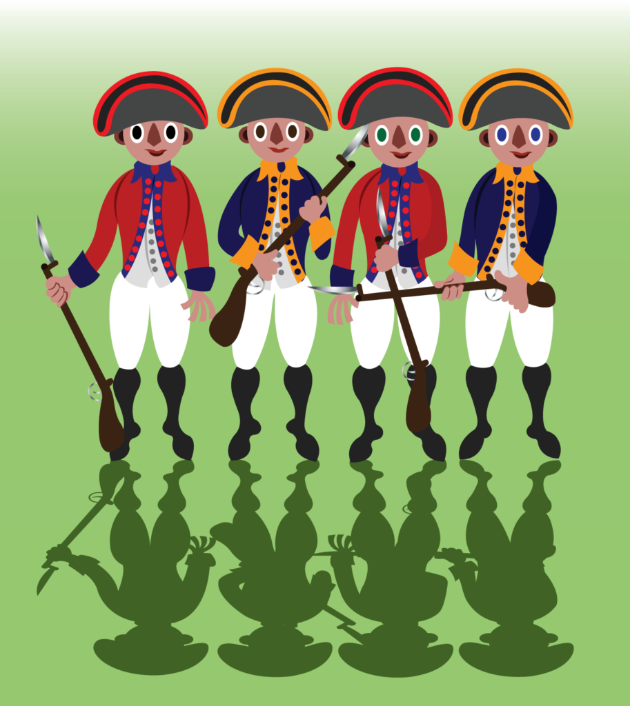 Vector Issue #6342: Revolutionary War Soldiers stand in a line
