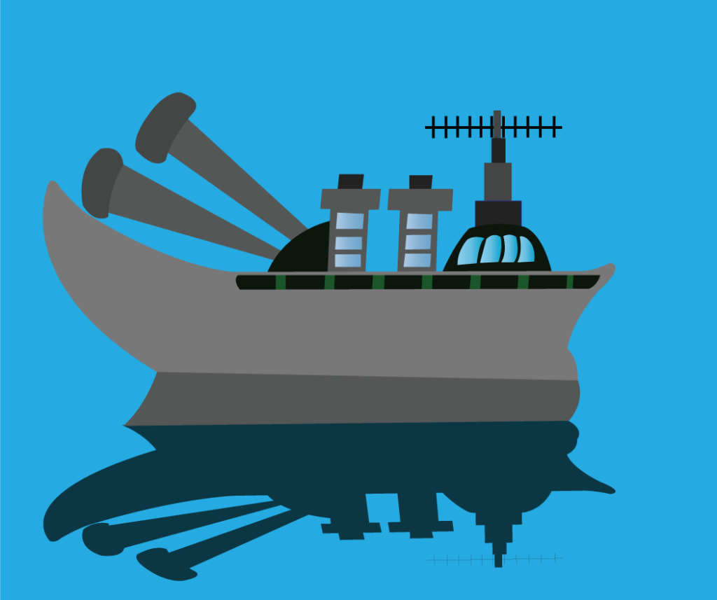 Vector Issue #6349: a Navy destroyer patrolling the oceans