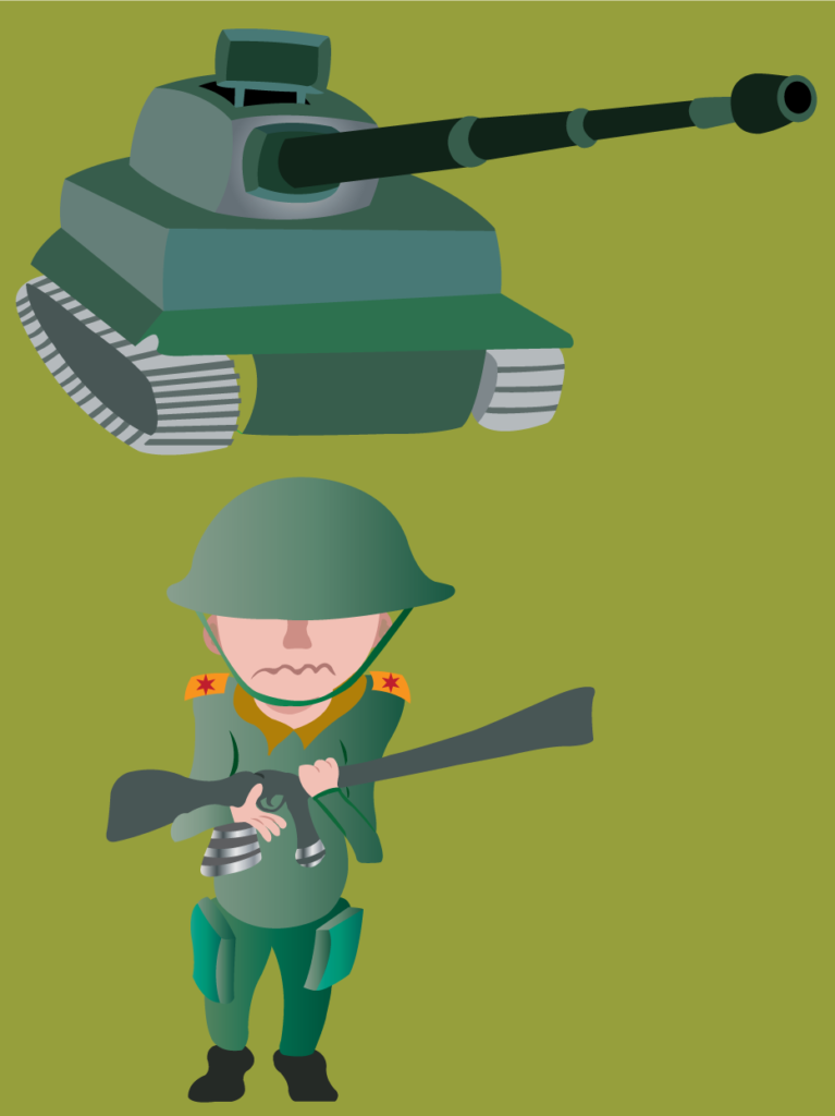 Vector Issue #6108: a child soldier holding a gun