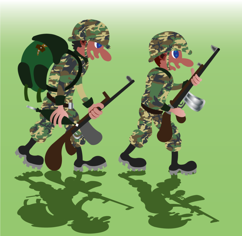 Vector Issue #6351: A bunch of soldiers marching to the battlefield