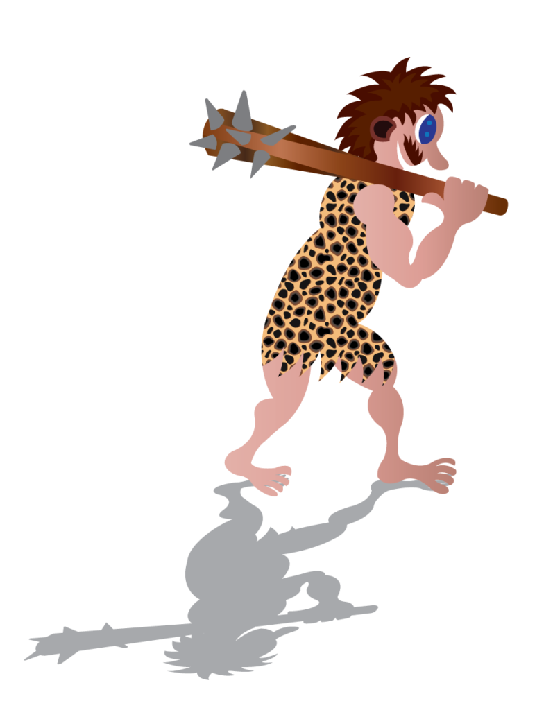 Vector Issue #6357: a stone age man takes a walk