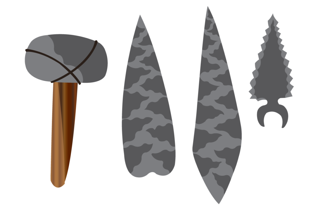 Vector Issue #6355: a wide array of stone age tools