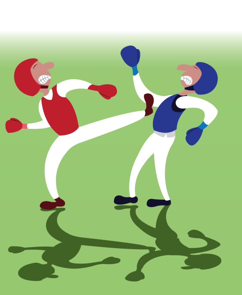 Vector Issue #6236: two taekwondo martial artists fighting one another
