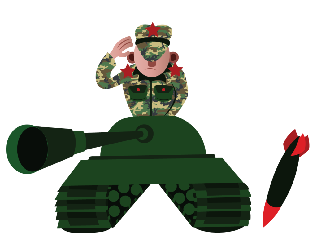 Vector Issue #6360: A tank Commander going to battle