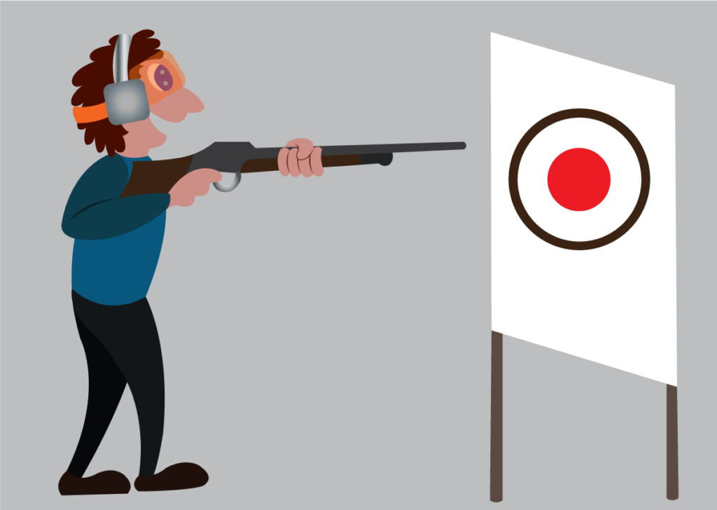 Vector Issue #6239: a shooter aims at a target in a sport