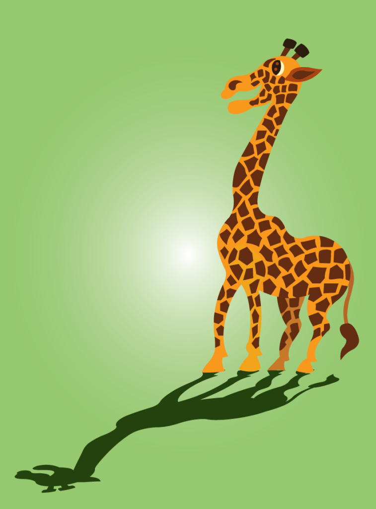 Vector Issue #6363: a giraffe stands by