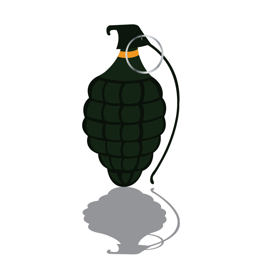 Vector Issue #6365: a hand grenade ready for use
