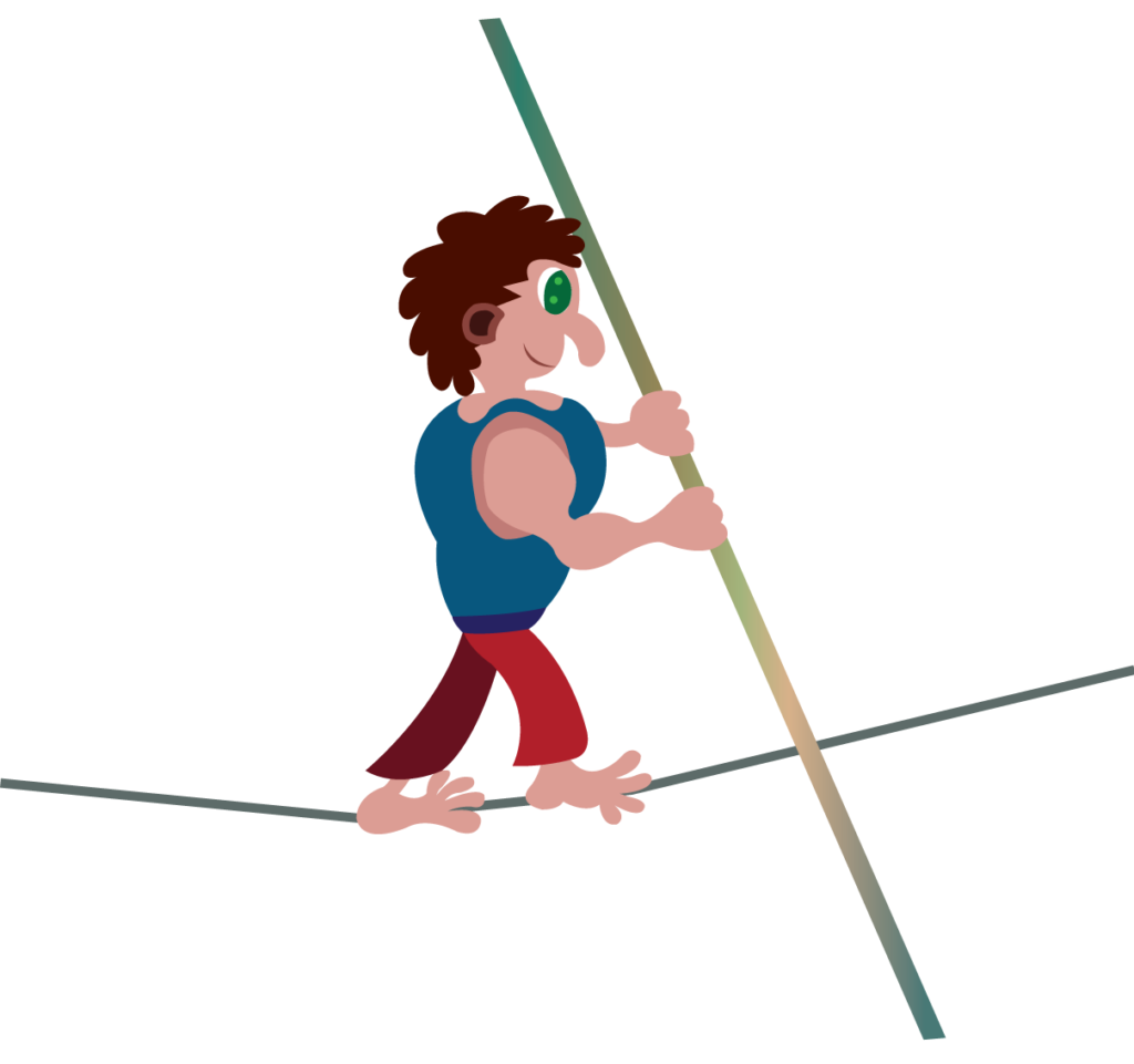 Vector Issue #6244: Tight Rope Walking, a performer walks barefoot across a tightrope