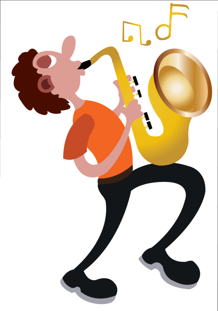 Vector Issue #6122: A trumpeter busy blowing his trumpet